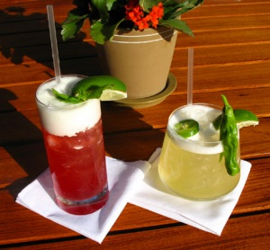 L: Pomegranate Mojito | R: Speckled Jalapeno Margarita