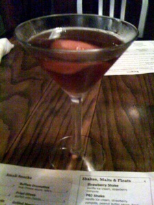 A perfectly crafted Manhattan.